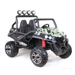 Электромобиль BUGGY т888тт 4WD камуфляж (полный привод, колеса резина, кресло кожа, пульт, музыка)